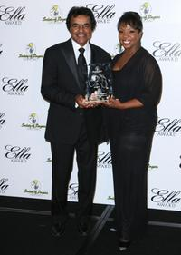 Johnny Mathis and Gladys Knight at the 16th Annual ELLA Awards.