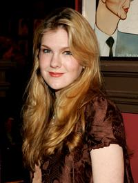 Lily Rabe at the Outer Critics Circles Award reception.