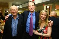 Ed Koch, Ron Wyden and Nancy Bass at the Publisher Weekly's celebration party for Strand Bookstore's 80 years in business.