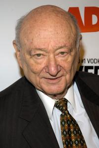 Ed Koch at the Radar's toast to The New Radicals.