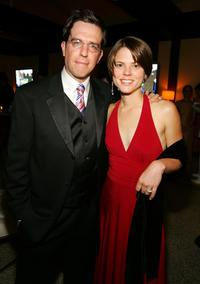 Ed Helms and his cousin Ellen Thomas at the Comedy Central Emmy after party.