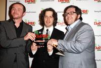 Simon Pegg, director Edgar Wrightand and Nick Frost at the Sony Ericsson Empire Awards.