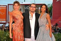 Stella Schnabel, Julian Schnabel and Rula Jebreal at the premiere of