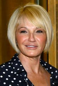 Ellen Barkin at the opening night party for the new Serge Normant Salon.