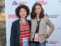 Jenny Deller and Perla Haney-Jardine at the New York premiere of