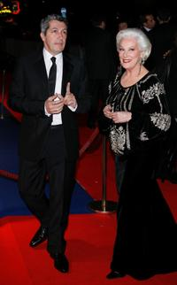Bernadette Lafont and Alain Chaba at the 32nd Cesars french film awards ceremony.