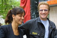 Christopher Lambert and Ines Sastre at the promotion the of