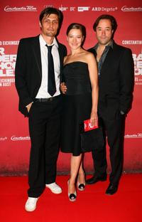 Stipe Erceg, Hannah Herzsprung and Jan Josef Liefers at the German premiere of