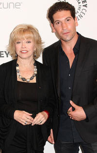 President/CEO of the Paley Center for Media Pat Mitchell and Jon Bernthal at the California premiere of