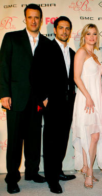 Benjamin King, Michael Landes and Teri Polo at the California premiere of
