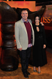 Director Chris Miller and Latifa Ouaou at the UK premiere of