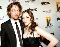 Robert Pattinson and Kat Dennings at the Hollywood Film Festivals Gala Ceremony.