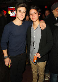 David Henrie and Guest at the T-Mobile presents Google Music at TAO during the Sundance Film Festival in Utah.