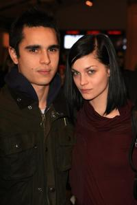 Max Minghella and Leigh Lezark at the Mercedes-Benz Fashion Week Fall 2008.