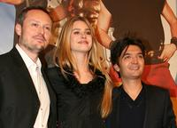 Director Frederic Forestier, Vanessa Hessler and Thomas Langmann at the premiere of