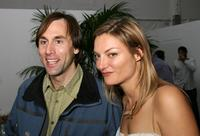 Erik Weihenmayer and Director Lucy Walker at the after party of
