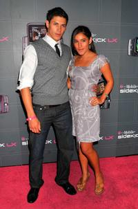 Alex Meraz and Q'orianka Kilcher at the T-Mobile Sidekick LX launch event.