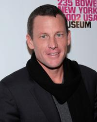 Lance Armstrong at the grand reopening of the New Museum hosted by Calvin Klein Collection.