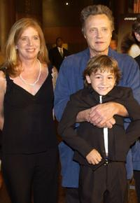 Julie Kirkham, Christopher Walken and Jonah Bobo at the premiere of