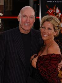 Ed Lauter and Guest at the world premiere of