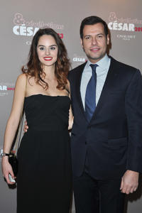 Noemie Merlant and Laurent Lafitte at the Trophees Du Film Francais 20th Ceremony in France.