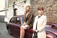 Rosamund Pike as Helen and Carey Mulligan as Jenny in