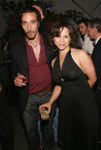 Carlos Leon and Rosie Perez at the after party premiere screening of