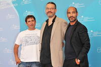 Sergi Lopez, director Arnaud des Pallieres and Jean-Marc Barr at the photocall of