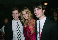 Shaun Evans, Lucy Punch and Tom Sturridge at the opening night party of the 2004 Toronto International Film Festival.