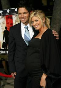 Brian Presley and his Wife at the World premiere of