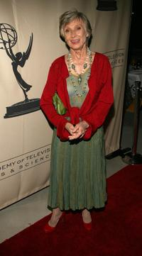 Cloris Leachman at the Emmy nominee reception.
