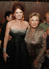 Debra Messing and Cloris Leachman at the after party of the premiere of