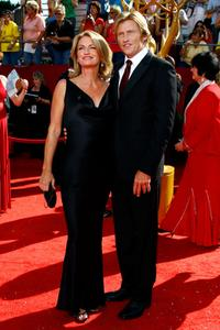 Ann Lembeck and Denis Leary at the 60th Primetime Emmy Awards.