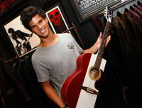 Taylor Lautner at the John Varvatos shop opening.