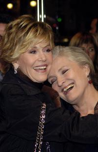 Marie-Christine Barrault and Jane Fonda at the premiere of the film documentary