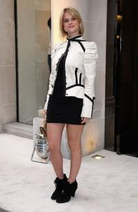 Alice Eve at the Vogue and Burberry's cocktail reception during the