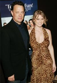 Producer Tom Hanks and Alice Eve at the special screening of