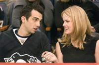 Jay Baruchel as Kirk and Alice Eve as Molly in