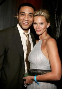 Harry J. Lennix and Natasha Henstridge at the 32nd Annual People's Choice Awards.