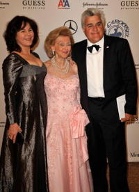 Mavis Nicholson, Barbara Davis and Jay Leno at the 30th anniversary Carousel of Hope Ball to benefit the Barbara Davis center for childhood diabetes.
