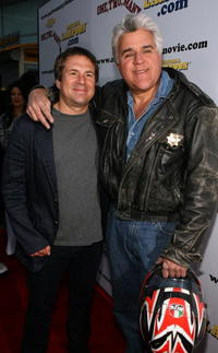 John Melendez and Jay Leno at the premiere of