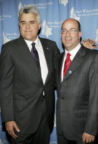 Jay Leno and Jeff Zucker at the Simon Wiesenthal/Museum of Tolerance National Tribute Dinner.