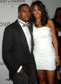 Kanye West and Alexis Phifer at the Kanye West's 30th birthday celebration.