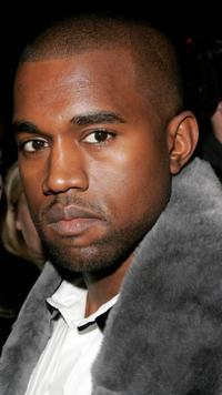 Kanye West at the Zac Posen Spring 2007 Fashion show during the Olympus Fashion week.