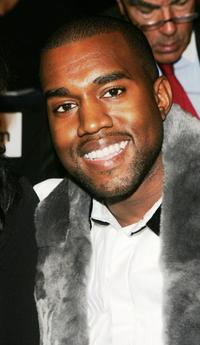 Kanye West at the Vera Wang Spring 2007 fashion show during the Olympus Fashion week.