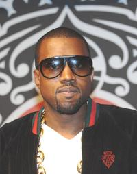 Kanye West at an autograph signing session for his new album