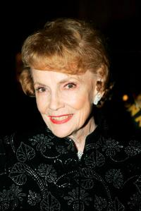 Joan Leslie at the Academy of Motion Picture Arts and Sciences Centennial tribute to Oscar-winning actress Greta Garbo.