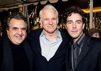 Shawn Levy, Jim Gianopulos and Steve Martin at the Los Angeles premiere of