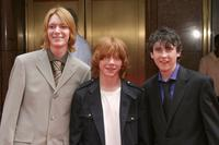 James Phelps, Rupert Grint and Matthew Lewis at the premiere of