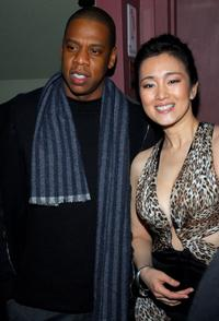 Gong Li and Jay-Z at the Premiere of